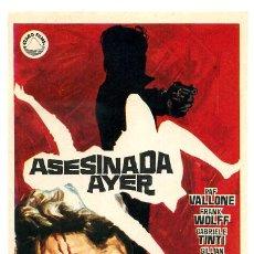 Cine: ASESINADA AYER , SENCILLO , PMD 477. Lote 187303111