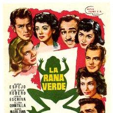 Flyers Publicitaires de films Anciens: LA RANA VERDE , SENCILLO , PMD 501. Lote 58148534