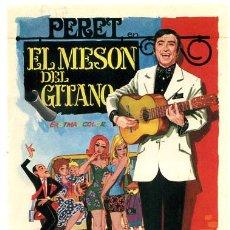 Folhetos de mão de filmes antigos de cinema: EL MESON DEL GITANO , PERET , SENCILLO , PMD 507. Lote 225263135
