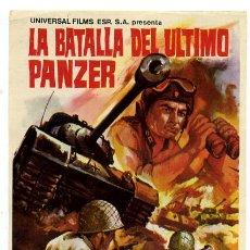 Foglietti di film di film antichi di cinema: LA BATALLA DEL ULTIMO PANZER , SENCILLO , PMD 508. Lote 207480865