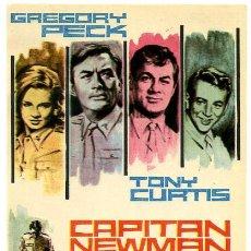 Flyers Publicitaires de films Anciens: CAPITAN NEWMAN , TONY CURTIS , SENCILLO , PMD 512. Lote 58148519