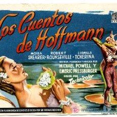 Cine: LOS CUENTOS DE HOFFMANN , SENCILLO , PMD 567. Lote 278319558
