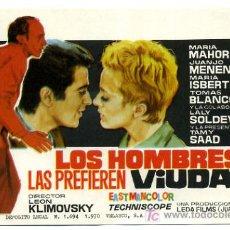 Flyers Publicitaires de films Anciens: LOS HOMBRES LAS PREFIEREN VIUDAS , SENCILLO , PMD 623. Lote 12707021