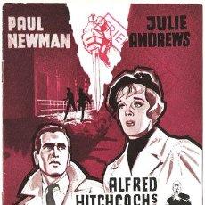 Cine: D CORTINA RASGADA PROGRAMA LIBRITO DANES ALFRED HITCHCOCK PAUL NEWMAN JULIE ANDREWS. Lote 12761199