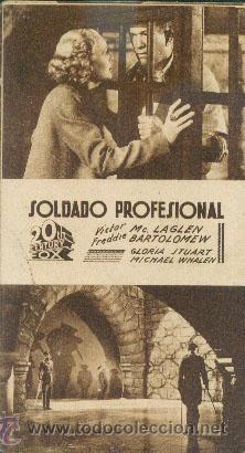 SOLDADO PROFESIONAL (Cine - Folletos de Mano - Bélicas)