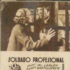 Cine: SOLDADO PROFESIONAL. Lote 26778417
