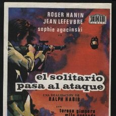 Cine: P-0160- EL SOLITARIO PASA AL ATAQUE (LE SOLITAIRE PASSE À L'ATTAQUE) ROGER HANIN - JEAN LEFEBVRE. Lote 262022515