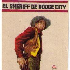 Cine: EL SHERIFF DE DODGE CITY. SENCILLO DE CEA. ¡IMPECABLE!. Lote 12731884