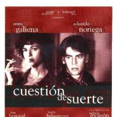 Cine: CUESTION DE SUERTE, CON EDUARDO NORIEGA. POSTAL.. Lote 178312920