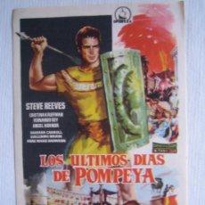 Cine: FOLLETO DE MANO - LOS ULTIMOS DIAS DE POMPEYA - DIPENFA STEVE REEVES PEPLUM. Lote 27552124