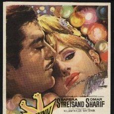 Cine: P-1259- FUNNY GIRL (BARBRA STREISAND - OMAR SHARIF - KAY MEDFORD - ANNE FRANCIS). Lote 21179597