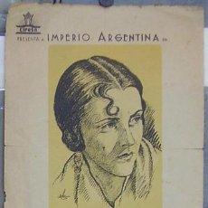 Cine: MORENA CLARA PROGRAMA PASQUIN CIFESA CINE ESPAÑOL IMPERIO ARGENTINA. Lote 17675564