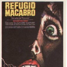 Cine: REFUGIO MACABRO- PROGRAMAS DE CINE-COLECCIONALOS! ESTE Y MAS EN RASTRILLOPORTOBELLO. Lote 36527367