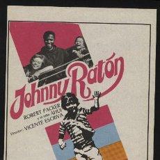 Cine: P-0237- JOHNNY RATON (ROBERT PACKER - LUIS DÁVILA - GEORGE RIGAUD - AHUI CAMACHO - JULIO ARA). Lote 262019540