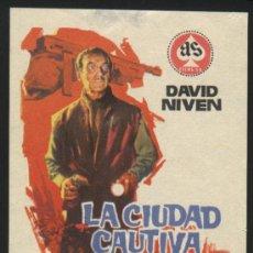 Cine: P-9145- LA CIUDAD CAUTIVA (LA CITTÀ PRIGIONIERA (CONQUERED CITY)) DAVID NIVEN - LEA MASSARI. Lote 21441148