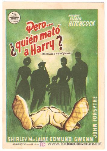 PERO QUIEN MATO A HARRY PROGRAMA SENCILLO CIFESA ALFRED HITCHCOCK SHIRLEY MACLAINE (Cine - Folletos de Mano - Suspense)