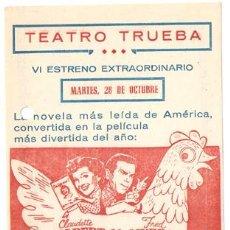 Cine: EL HUEVO Y YO PROGRAMA CONCURSO UNIVERSAL CLAUDETTE COLBERT FRED MACMURRAY A. Lote 18490496