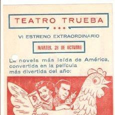 Cine: EL HUEVO Y YO PROGRAMA CONCURSO UNIVERSAL CLAUDETTE COLBERT FRED MACMURRAY C. Lote 18490498