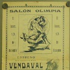 Cine: VENDAVAL 1920'S PROGRAMA LOCAL GRANDE TOM MIX. Lote 12902590