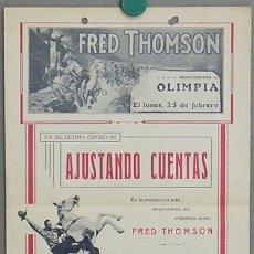 Cine: D AJUSTANDO CUENTAS PROGRAMA LOCAL GRANDE FRED THOMSON CABALLISTA CINE MUDO. Lote 12904627