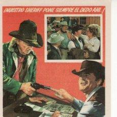Cine: TAMBIEN UN SHERIFF NECESITA AYUDA -VEA COLECCIONES EN GENERAL EN RASTRILLOPORTOBELLO. Lote 24023867