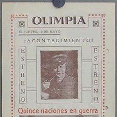 Cine: QUINCE NACIONES EN GUERRA 1927 PROGRAMA DOBLE LOCAL JOHN STUART LILIAN-HALL DAVIS. Lote 12916598