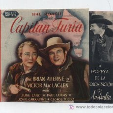 Cine: CAPITÁN FURIA. DOBLE DE UNITED ARTISTS. PALACIO CINEMA.. Lote 19472482