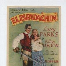 Cine: EL ESPADACHÍN. SENCILLO DE COLUMBIA.. Lote 12932277