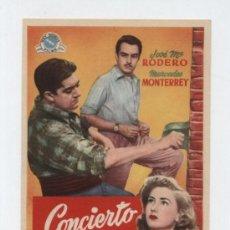 Cine: CONCIERTO MÁGICO. SENCILLO DE REY SORIA FILMS.. Lote 12952149