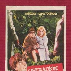 Cine: PROGRAMA SENCILLO CINE - OPERACIÓN SECRETARIA - DIRIGIDA POR MARIANO OZORES - IZARO FILMS. Lote 12994903