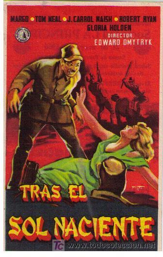 TRAS EL SOL NACIENTE. SENCILLO DE SELECCIONES CAPITOLIO. SOCIEDAD LA PRINCIPAL 1956. (Cine - Folletos de Mano - Bélicas)