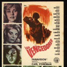 Cine: P-0181- LOS VENCEDORES (THE VICTORS) ROMY SCHNEIDER -JEANNE MOREAU - GEORGE PEPPARD - MAURICE RONET. Lote 21604228