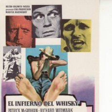 Cine: EL INFIERNO DEL WHISKY- PROGRAMAS DE MANO PARA COLECCIONAR- CINE AÑOS 70. Lote 25159135