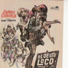 Cine: EL OESTE LOCO-JAMES COBURN. PROGRAMAS DE MANO PARA COLECCIONAR. Lote 20447221