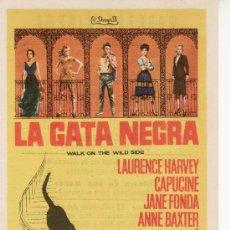 Cine: LA GATA NEGRA. JANE FONDA, LAURENCE HARVEY-ESTE Y MAS PROGRAMAS EN RASTRILLOPORTOBELLO. Lote 27010623