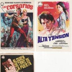 Cine: LOTE DE 3 PROGRAMAS DE CINE- ARTICULOS DE COLECCION EN GENERAL-RASTRILLOPORTOBELLO. Lote 25528273