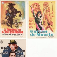 Cine: LOTE DE 3 PROGRAMAS DE CINE- COLECCIONALOS- VEA MAS EN RASTRILLOPORTOBELLO. Lote 26693412