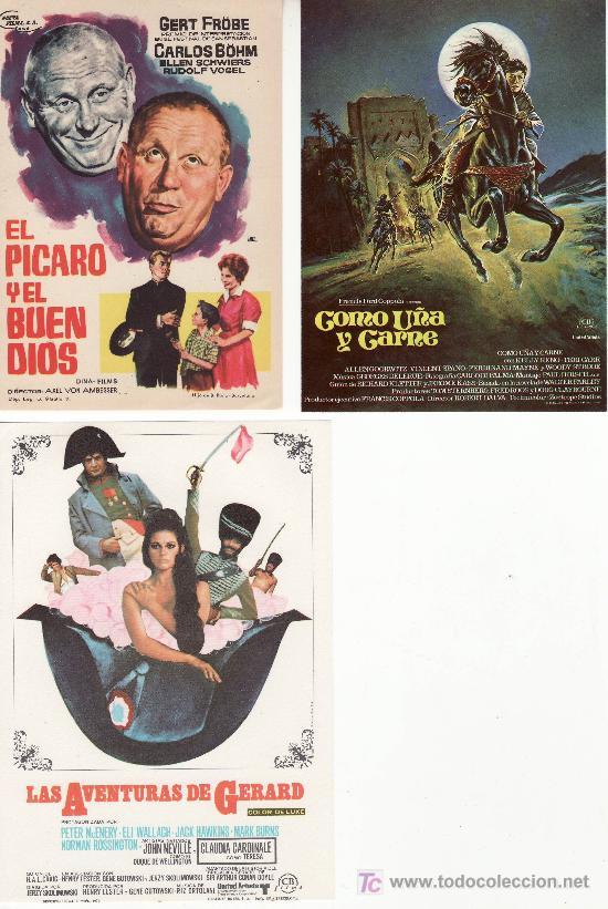 LOTE DE 3 PROGRAMAS DE CINE- ¡COLECCIONALOS! - VEA MAS EN RASTRILLOPORTOBELLO (Cine - Folletos de Mano)