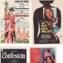 Cine: 4 PROGRAMAS DE CINE- ¡COLECCIONALOS! GENDARME EN NUEVA YORK,YA SOY UNA...LOS HEROES...Y LA CONFESION. Lote 23304266