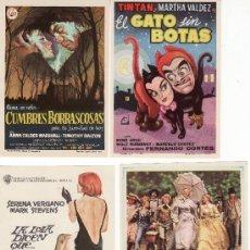 Cine: 4 PROGRAMAS DE CINE- ¡COLECCIONALOS! GATO SIN BOTAS,LA LOLA DICEN...LAS AVENTURAS DE....CUMBRES..... Lote 26387121