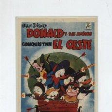 Cine: DONALD Y SUS AMIGOS EN EL OESTE. SENCILLO DE CHAMARTÍN. CINE ESPERANZA (SEVILLA). Lote 19147883
