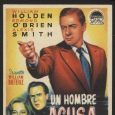 Cine: P-2268- UN HOMBRE ACUSA (L THE TURNING POINT) WILLIAM HOLDEN - EDMOND O'BRIEN - ALEXIS SMITH. Lote 21979614