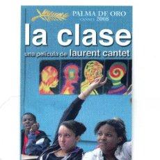 Cine: LA CLASE. MARCAPAGINAS.. Lote 277647013