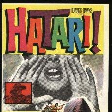 Cine: P-1090- HATARI (JOHN WAYNE - HARDY KRUGER - ELSA MARTINELLI - BRUCE CABOT - RED BUTTONS). Lote 22009635