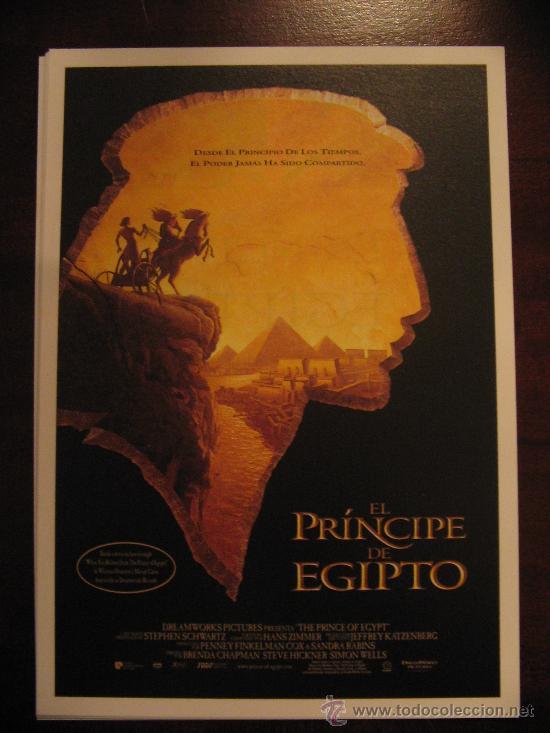 EL PRINCIPE DE EGIPTO (Cine - Folletos de Mano - Infantil)