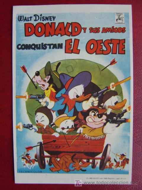 DONALD Y SUS AMIGOS CONQUISTAN EL OESTE (Cine - Folletos de Mano - Infantil)
