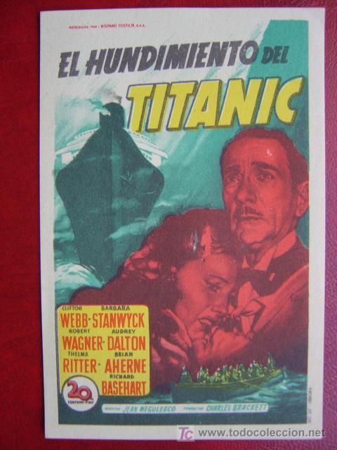 SOLIGO - EL HUNDIMIENTO DEL TITANIC (Cine - Folletos de Mano - Drama)