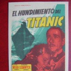 Cine: SOLIGO - EL HUNDIMIENTO DEL TITANIC. Lote 54408569