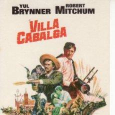 Cine: VILLA CABALGA -PROGRAMA DE CINE- COLECCIONISMO EN GENERAL-RASTRILLOPORTOBELLO.. Lote 20056693