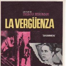 Cine: LA VERGUENZA.INGMAR BERGMAN CINE- COLECCIONISMO EN GENERAL-RASTRILLOPORTOBELLO.. Lote 46256581